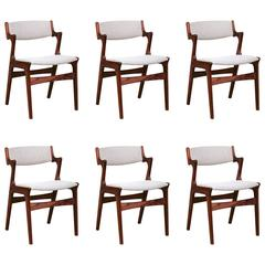 Vintage Danish Rosewood Dining Chair, Set of Six