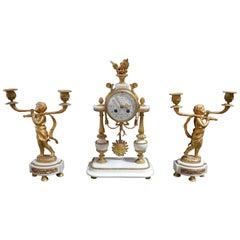 19th Century French Clockset