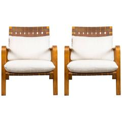 Pair of Bentwood Lounge Chairs