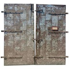 Turn of the Century Architectural Factory Tin Clad Fire Doors