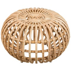 Large Rattan Ottoman by Franco Albini