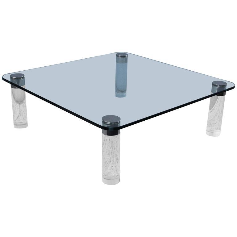 1970s Oversize Lucite Coffee Table