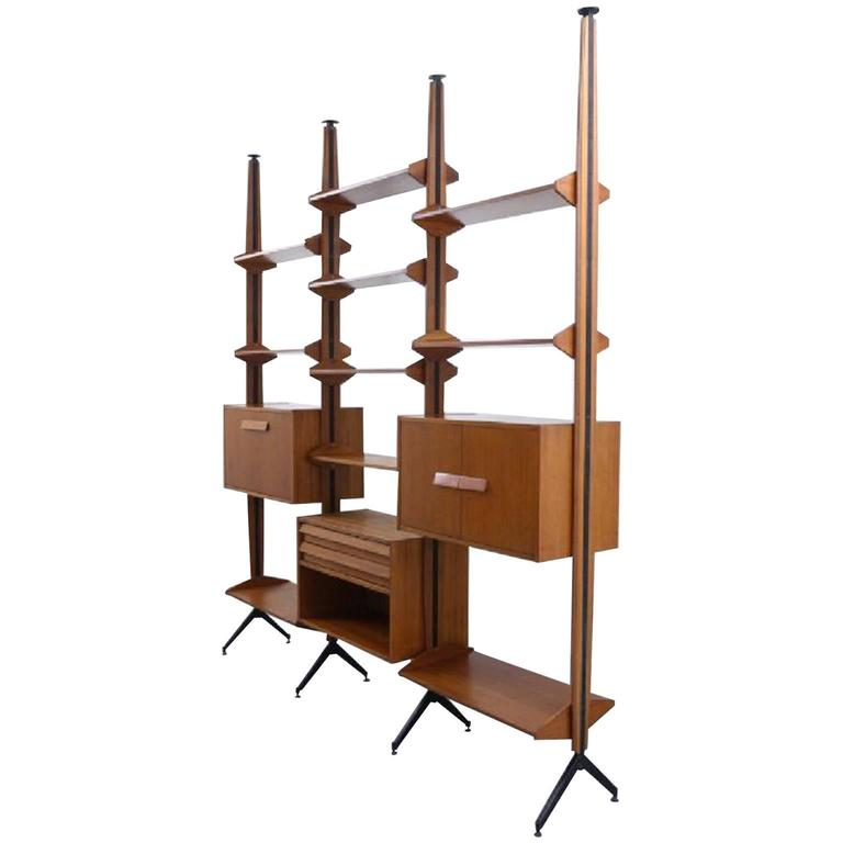 Modular Shelving System or Room Divider, Italy, 1960s For Sale