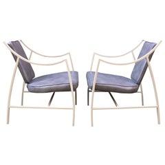 Pair of 1960s Aluminium Outdoor Armchairs