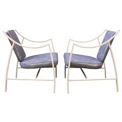 Pair of 1960s Aluminium Outdoor Armchairs