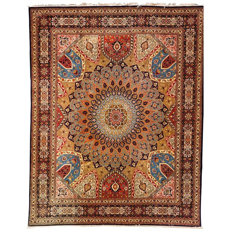 Persian Carpet Quality: High Quality Knotted Carpet Tabriz Rug For Sale At 1stdibs