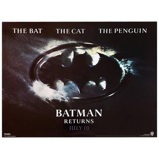 19K Batman Returns Begins Classic USA Movie  Print Art Silk Poster