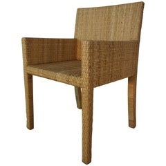 Armchair Bridge Rattan Model 1935 Design by JM Franck & A Chanaux for Ecart Int