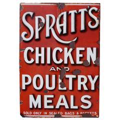 Original Spratt's Enamel Sign