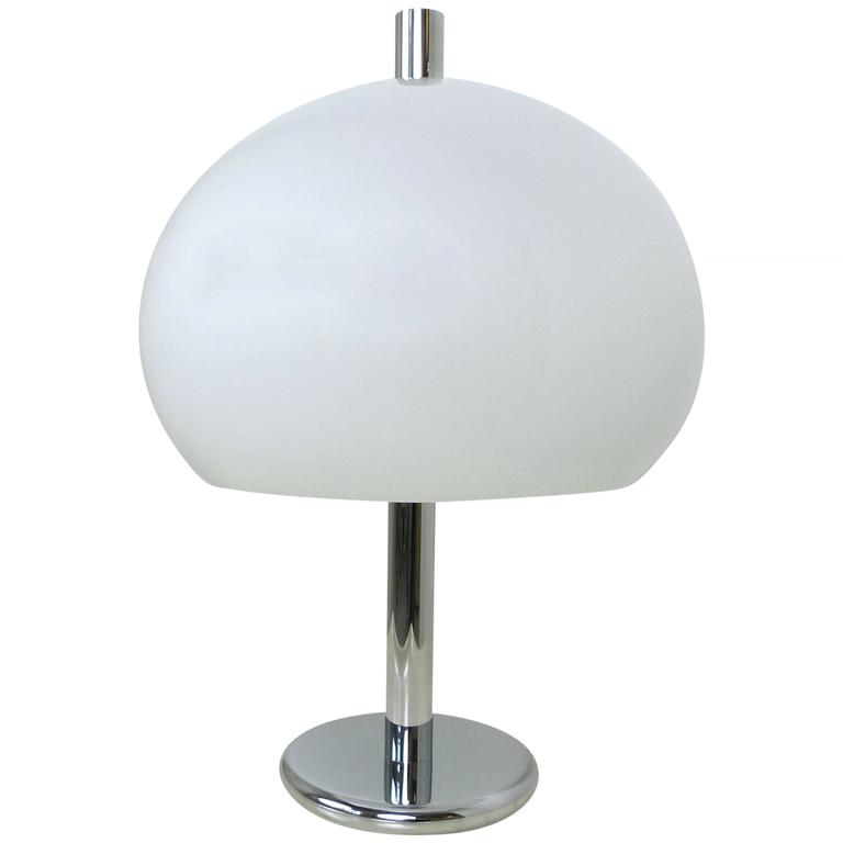 Large Chromed Table Lamp from Germany, 1970s