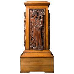 Arts & Crafts Oak Pedestal