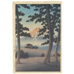 Kawase Hasui 20th Century Shin-Hanga Japanese Woodblock Print Ukiyo-E, Fuji
