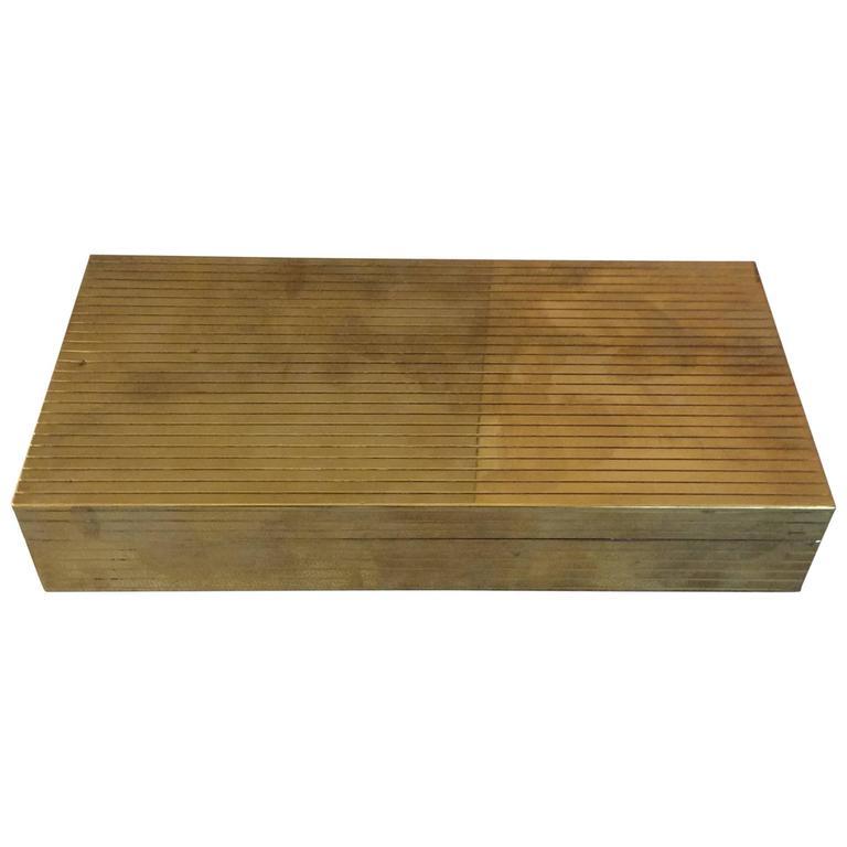 Italian Brass Cigar Box, 1960