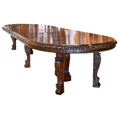 20' New York Belle Époque Extension Dining/ Conference Table in Mahogany, c 1890