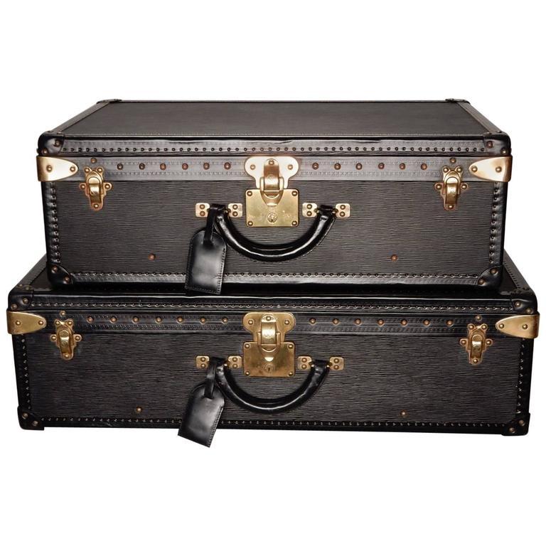 Special Edition Louis Vuitton Epi Black Leather Luggage
