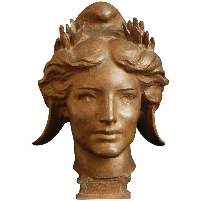"""Spirit of Victory,"" Important Gilded Bronze Sculpture by ""Golden Boy"" Sculptor"