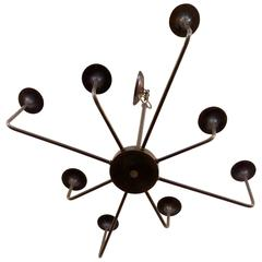 Modern 1970s Chapman Eight-Arm Chandelier, Offered by La Porte