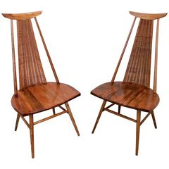 Rare Pair of Sculptural Easy Chairs by Ilmari Tapiovaara, Offered by La Porte