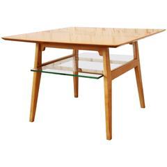 Jens Risom Mid-Century Modern Bird's-eye Maple Cocktail Table