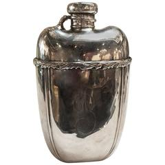 19th Century Sterling Silver Flask
