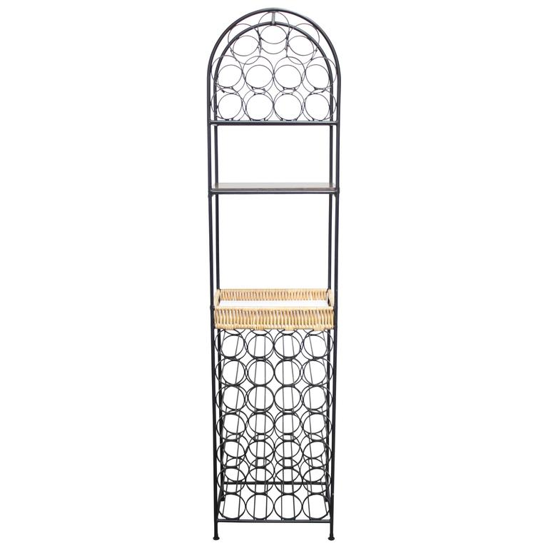 Iron Wine Rack By Arthur Umanoff For Shaver Howard For Sale At 1stdibs