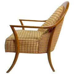 Rare Robsjohn Sabre Leg Lounge Chair