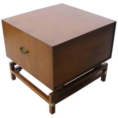 Vintage Mid-Century Butternut Side Table Nightstand Hickory Furniture Co