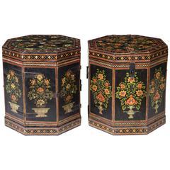 Pair of Anglo Indian Papier Mâché Low End Tables