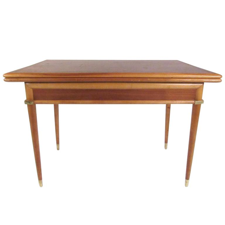 Mid-Century Modern Expandable Console to Dining Table