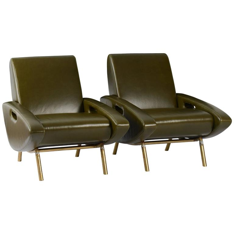 Pair of Trapezoid Chairs 1