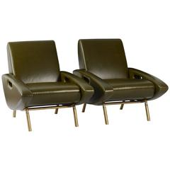 Pair of Trapezoid Chairs