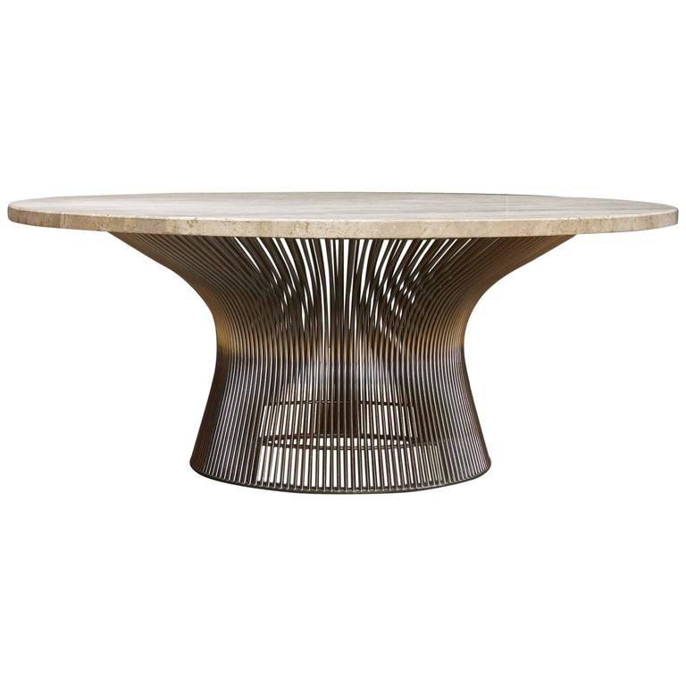 Vintage Warren Platner Coffee Table With Jupiter Marble Surface At 1stdibs