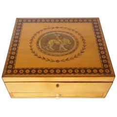 George III Satinwood Letter or Dresser Box, England, circa 1785