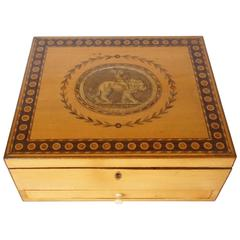 George III Satinwood Letter or Dresser Box, England, circa 1785
