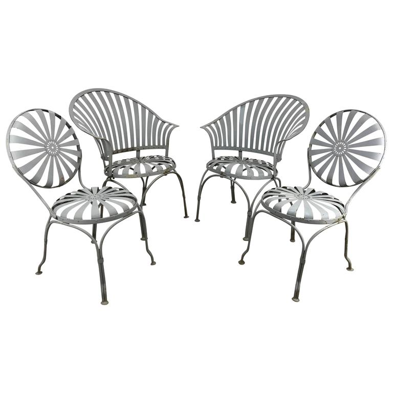 Set of Four Francois Carré French Sunburst Garden Set