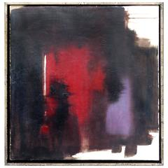 Abstract Oil on Canvas by A.Dale Nally, circa 1990