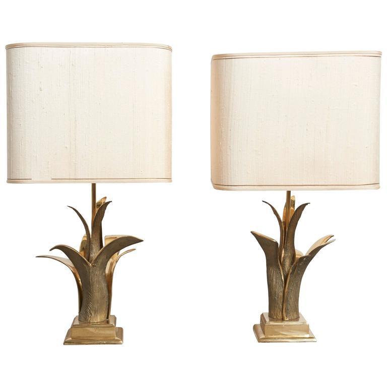 Pair of Bronze Gilt Table Lamps, Paris, 1970s