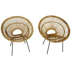 1950s Design Rattan Sun Chair by Janine Abraham, Dirk Jan Rol