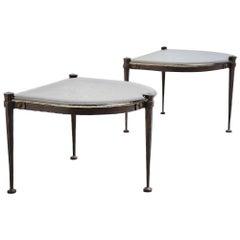 Lothar Klute Brutalist Side Tables, Germany, 1970
