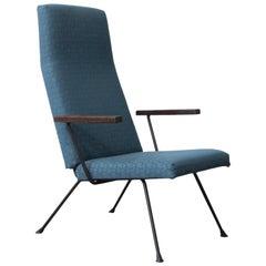 1959, Cordemeyer for Gispen, Easy Chair 140, Original Blue 1960s Fabric