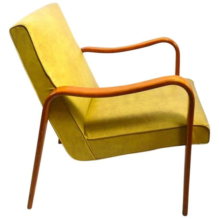 Bent Plywood Lounge Chair By Thonet For Sale