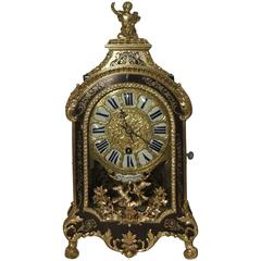 Rare French Louis XV Boulle Bracket Clock with Verge Escapement