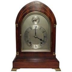 German Mahogany Lancet Top Ting Tang Bracket Clock by W&H