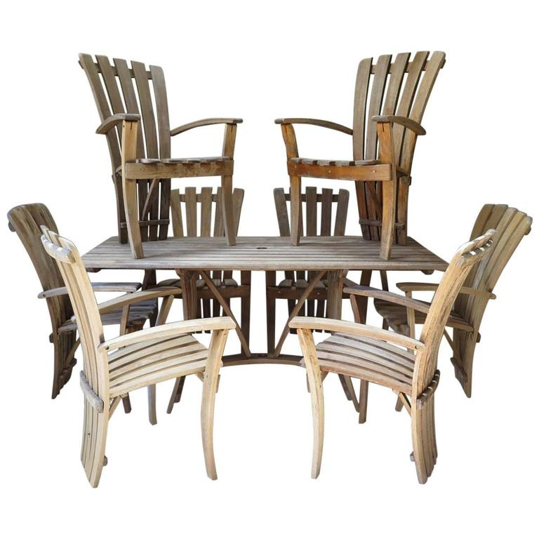 Outdoor Dining Set, France, circa 1970s For Sale