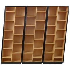 Set of Three Christian De Portzamparc Asymmetric Bookcases