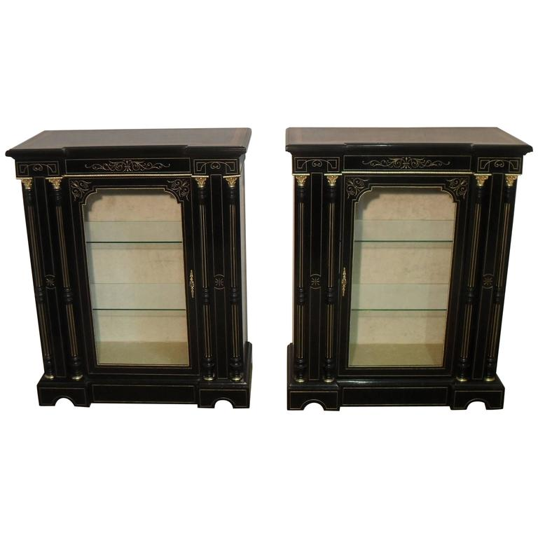 Pair Of Victorian Aesthetic Movement Ebonized Display
