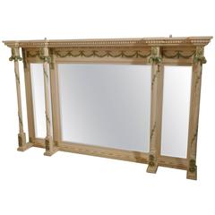19th Century Painted Regency Style Overmantel