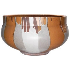 Monumental David Cressey Art Pottery Flame Glaze Planter Pot