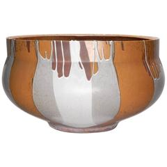 Monumental David Cressey Art Pottery Flame Glaze Planter Pot
