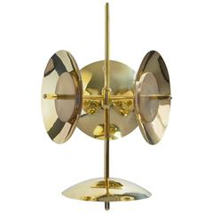 Customizable Signal Chandelier 3 and 1 in Brass, from Souda, Made to Order